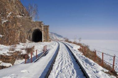Winter road Circum-Baikal