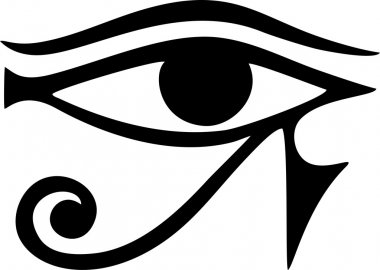 EYE of Horus - reverse moon eye of Thoth