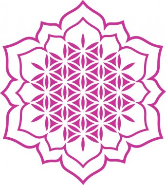 Flower of life - Lotus flower - symbol healing and harmony