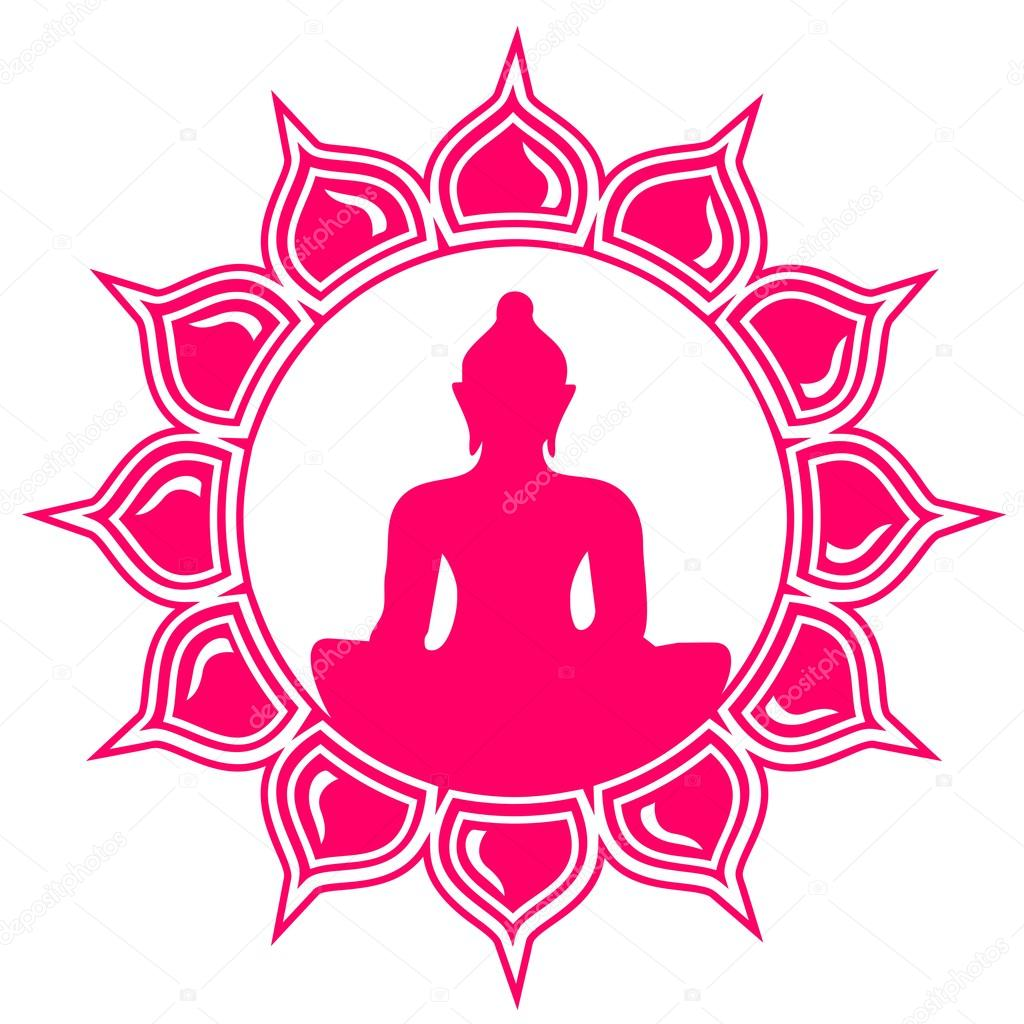 Meditation Buddha Lotus Flower Stock Vector Lavalova 21263341