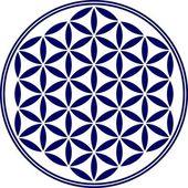 Fotografie Blume des Lebens - Heilige Geometrie - Symbol Harmonie und Gleichgewicht