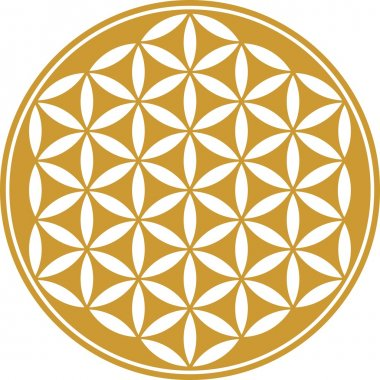 Flower of life - sacred geometry - symbol harmony and balance