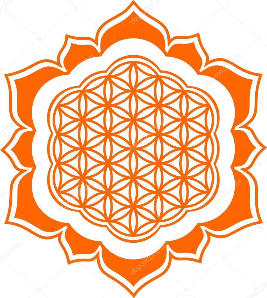 Flower Of Life Lotus Flower Symbol Healing And Harmony Stock