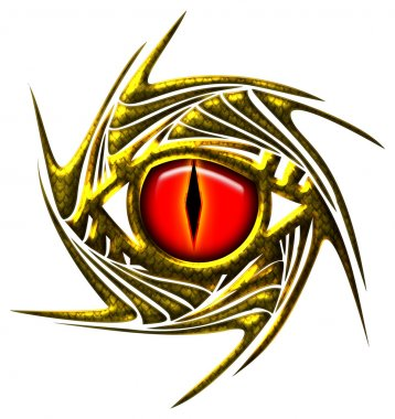 Dragon eye, dragoneye - golden