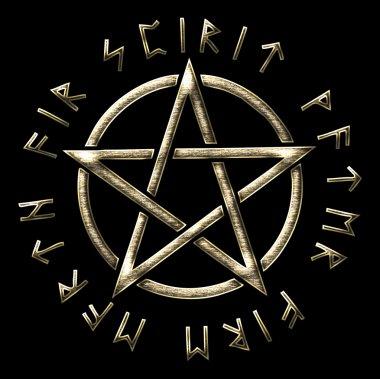 Pentagram - golden ratio - runes