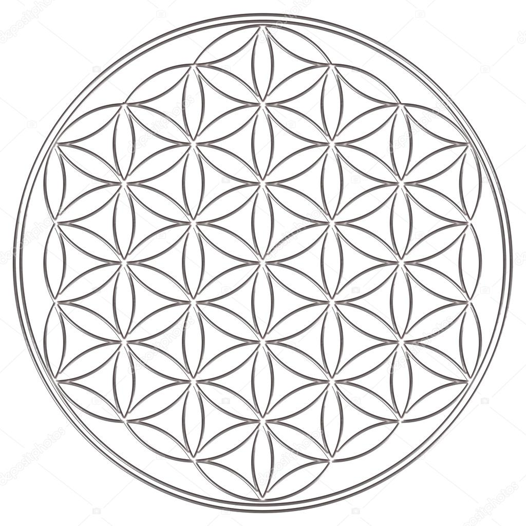 Sacred geometry symbol for love   Flower of life - sacred