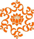 Fotografie OM Mandala - Lotusblüte