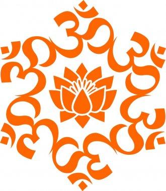 OM mandala - lotus flower