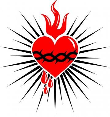 Sacred heart of jesus - rays