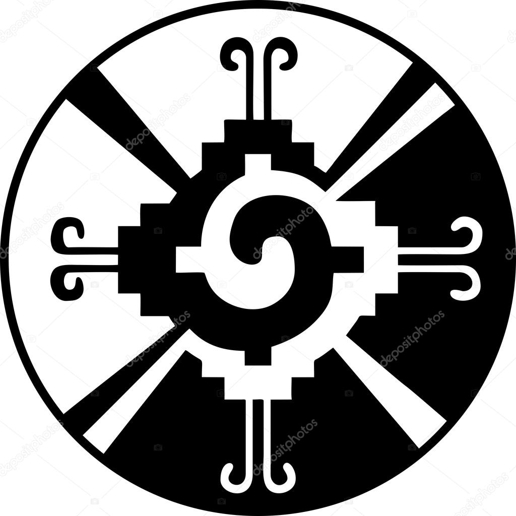 Hunab Ku Heart Of The Galaxy Mayan Symbol For God Stock Vector