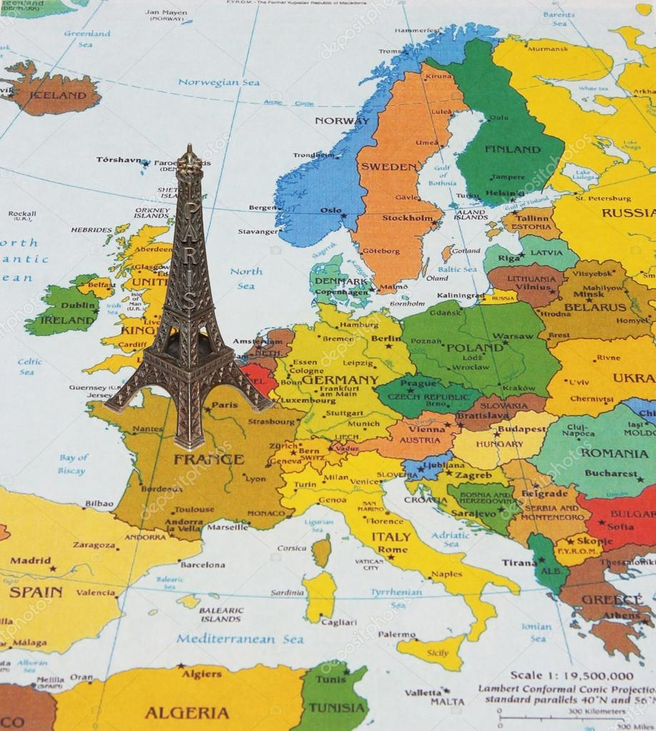 Eiffel Tower On The Map Stock Photo C Povidl0 21442015