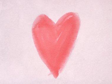 Heart symbol on vintage paper stock vector