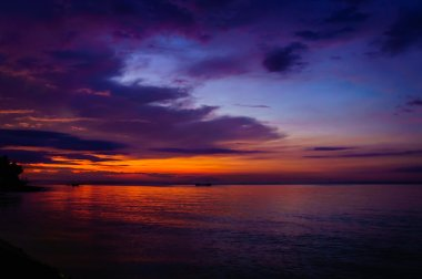 Sunset over Lovina beach