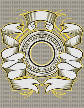 Illustration Vector Insignia designs set vector shields, laurel wreaths and ribbons