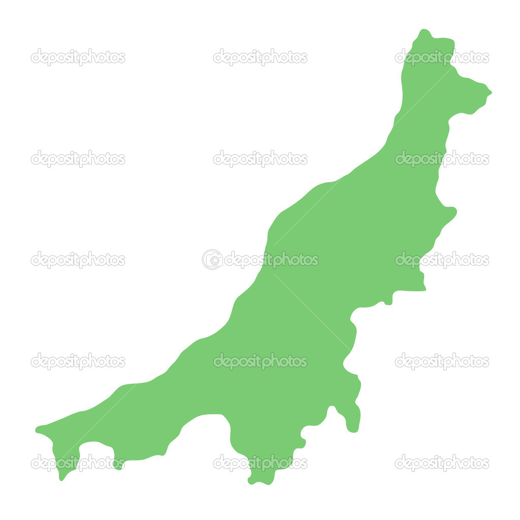 Map Of Niigata Prefecture Japan Stock Photo C Kokoroyuki 35972909