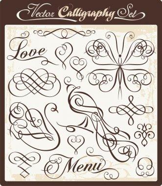 Vector Calligraphy Set