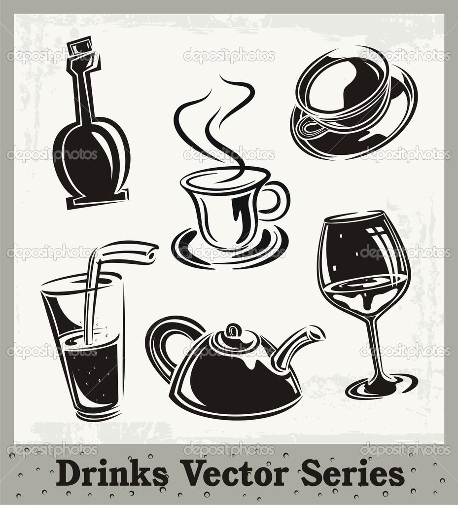 Getränke-Vektor-Serie — Stockvektor © clipart-design #21182125