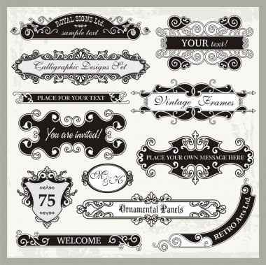 Vintage Ornamental Frames and Sign Designs