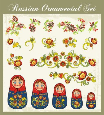Vector Ornaments in Russian Style