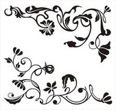 Ornamental corner designs with floral details, vector series.