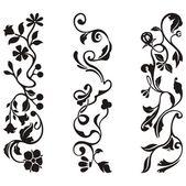 Fotografie návrhy okrasných vlys s květinovými detaily, vektorové série