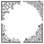 Fotografia disegni ornamentali squisito angolo