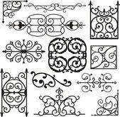 Fotografia un insieme di 12 exquisitive e disegni ornamentali molto pulito