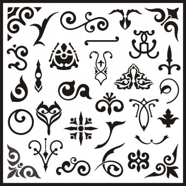 Ornamental design elements, vector series