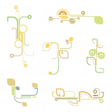 A set of fancy urban design elements, vector series.