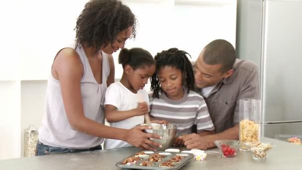 Afro-American family baking — Stock Video © WavebreakPremium #22644367
