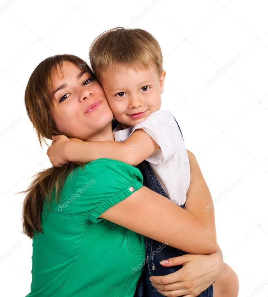Mom and son together