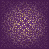 Vektor virág barokk lila háttér