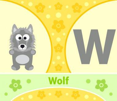 The English alphabet Wolf