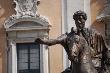 Bronze Horse Statue of the Roman Emperor Marcus Aurelius on the Capitol Hill