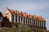 Starý germánský hrad ve městě gniew, Polsko
