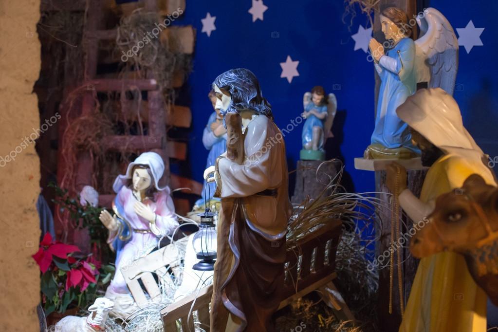szopka betlejemska z dziecia tkiem jezus ojciec josef i panny w stajni w gdaa sku zdja cie od kapa196628