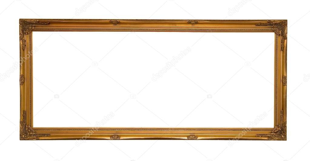 antikes gold Panorama Bilderrahmen — Stockfoto © danielsnaer #21596825