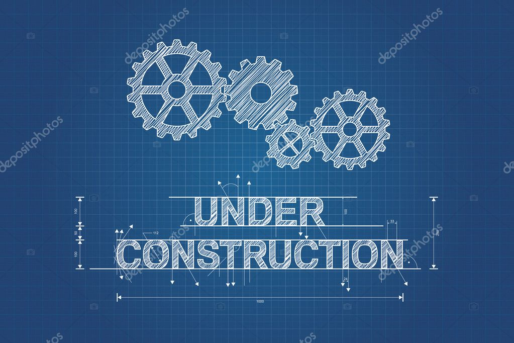 Under construction blueprint technical drawing with gear wheel under construction blueprint technical drawing with gear wheel stock vector 40307185 malvernweather Gallery