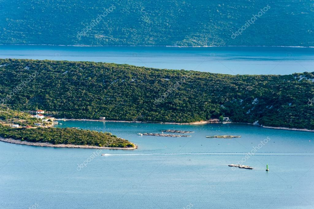 The view of the sea and islands in southern Croatia