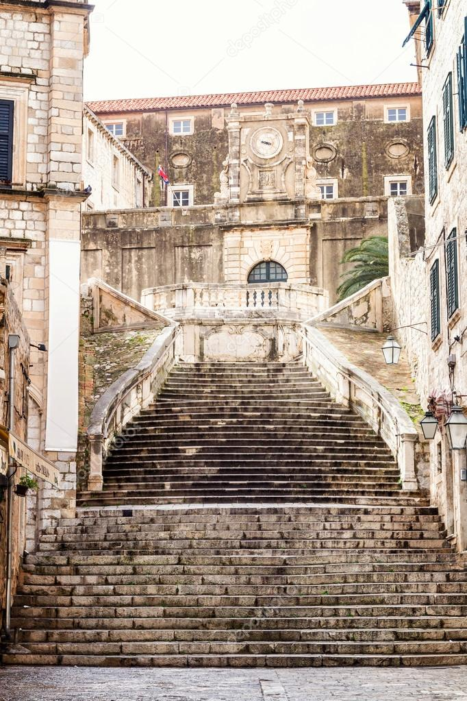 Steep Stairs And Narrow Street In Old Town Of Dubrovnik U2014 Stock Photo  #51541903