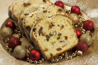 Holidays cake with raisins and nuts