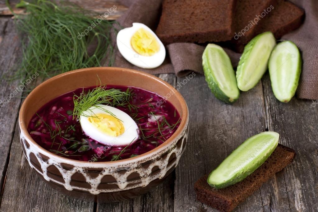 рецепт холодного супа огурец свёкла кефир