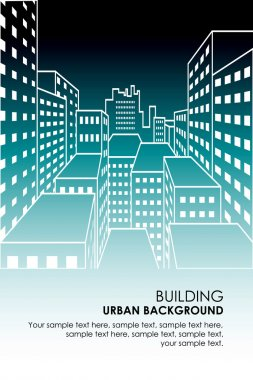 Vector vertical cityscape