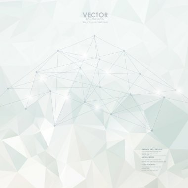 Abstract modern vector with polygon background