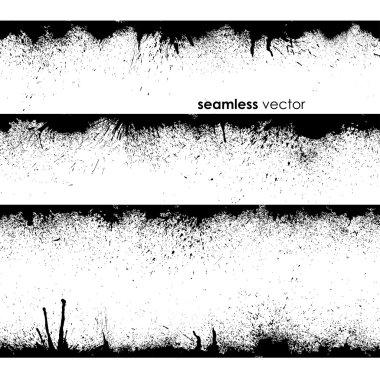 Abstract seamless grunge black border clip art vector