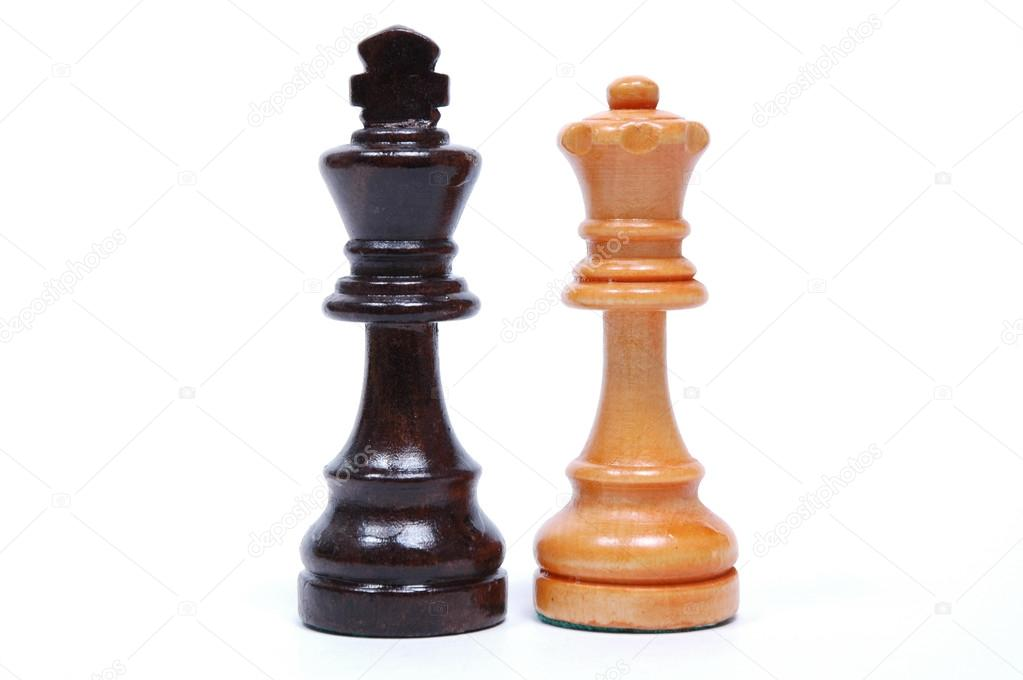 King and Queen Chess Pieces — Stock Photo © jasonyerface ...