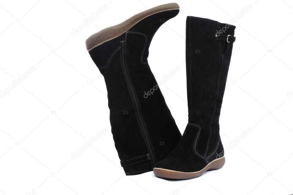 Meleg téli női fekete csizma 3d2d933be3