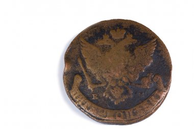 Old Russian copper coin.