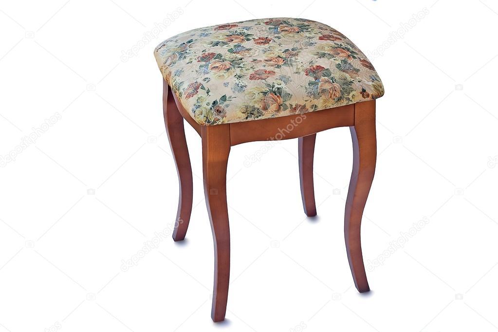 Pratico sgabello con il sedile imbottito con un gobelin u foto