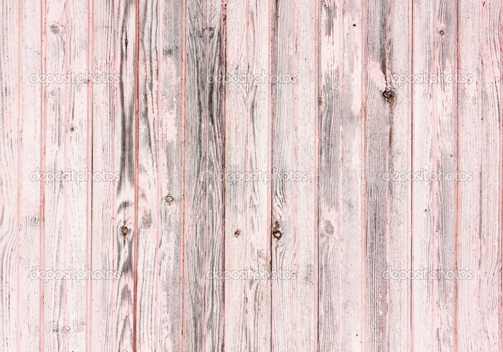 Old Wooden Painted Pink Rustic Background Paint Peeling